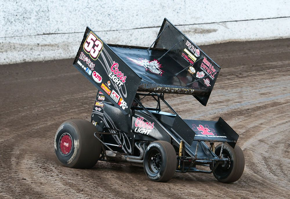 Andy Gregg Wins Wing 360 Sprint Car Race at Placerville