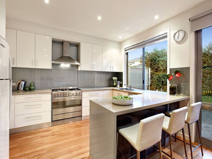 resultado de imagen de modern u shape small compact kitchens schick pinterest k che. Black Bedroom Furniture Sets. Home Design Ideas