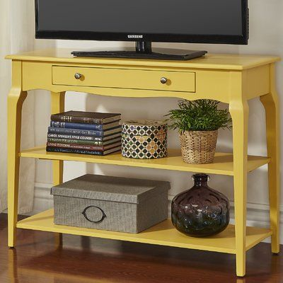 Three Posts Shawnee Console Table Color Yellow Console Table