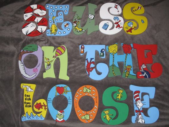 Dr Seuss Inspired Hand Painted Letters Message Before