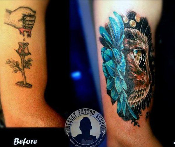 55 Incredible Cover Up Tattoos Before And After Cuded Cover Up Tattoos Cover Up Tattoos Before And After Flower Cover Up Tattoos