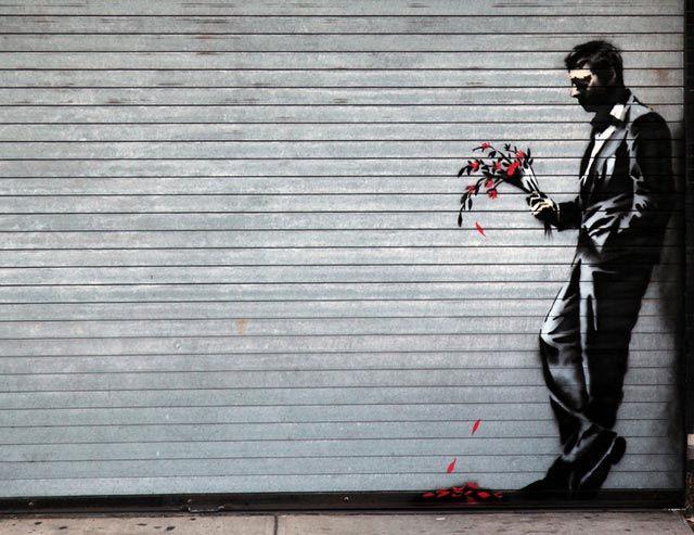 """Banksy """"Esperando en vano… a la puerta del club"""""""