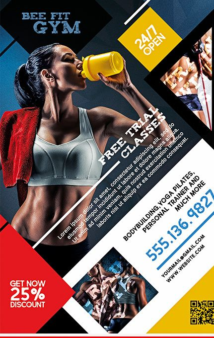 GYM FREE PSD FLYER TEMPLATE Web Design Patterns Pinterest Free