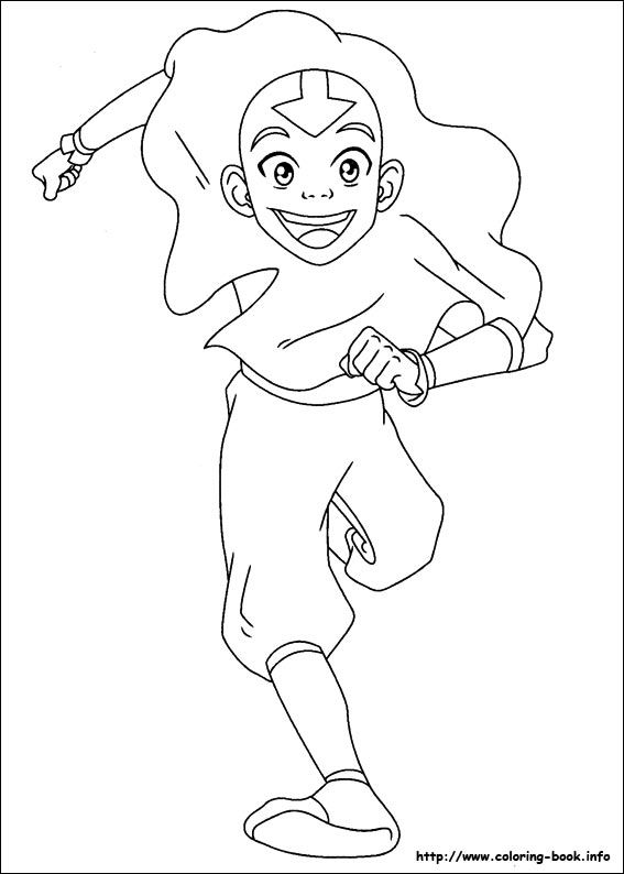 Avatar, the last airbender coloring picture | LineArt: Avatar Last ...