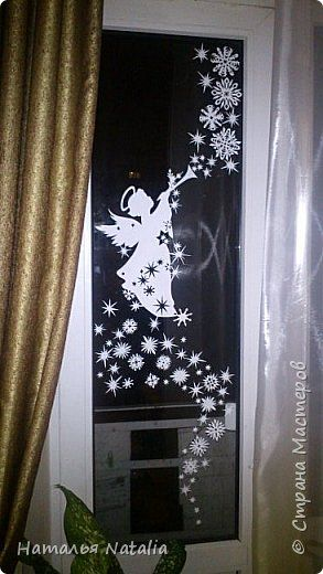 Интерьер Новый год Рождество Вырезание Снежный ангел и др Бумага фото 1