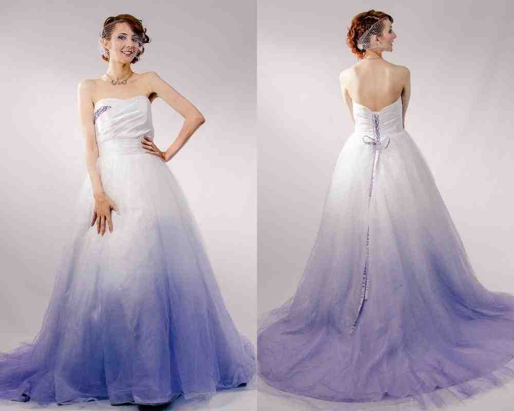 Wedding Dresses With Purple In Them Purple Wedding Dress