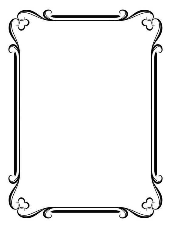 Pin By Msb Grafix On Ornaments Page Borders Design Frame Border Design Borders For Paper