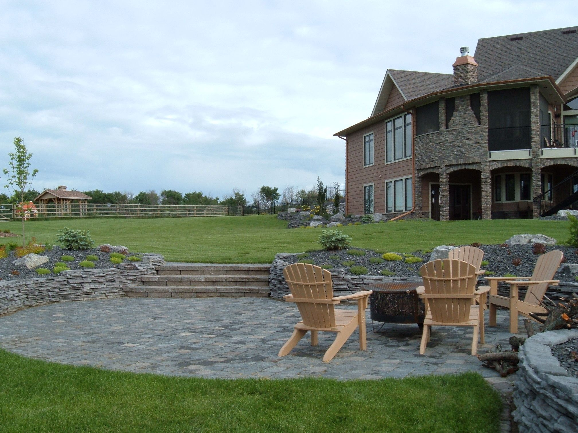 Patio And Rock Walls   Lakeside Cottages And Country Homes By Creative  Landscape U0026 Design | Lakeside Cottages And Country Homes | Pinterest |  Lakeside ...