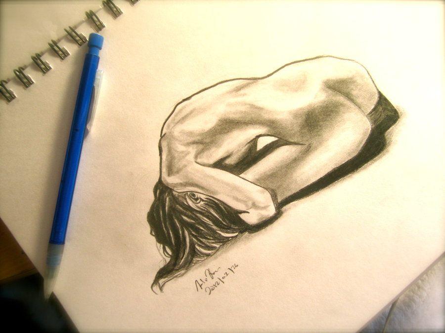 Depression- figure drawing by megamassogou