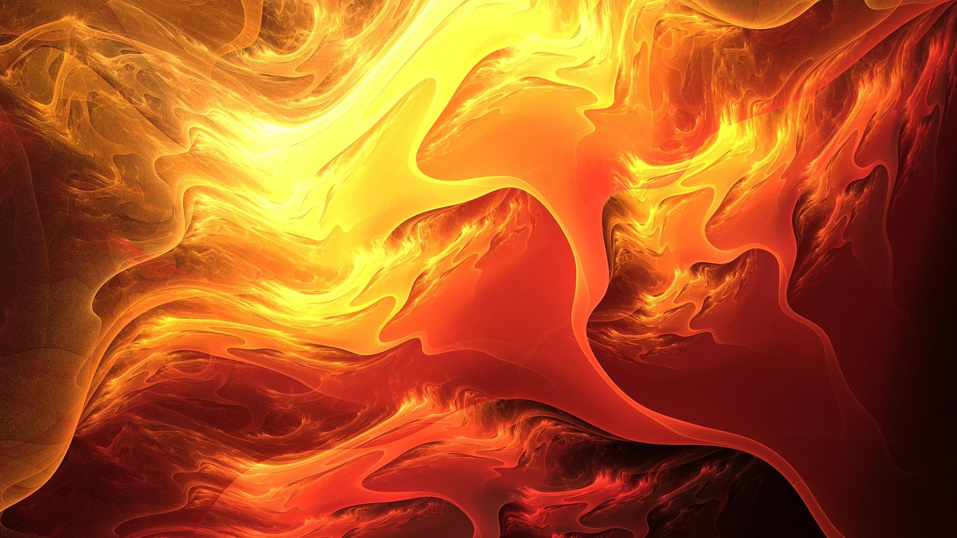 1920x1080 3d Abstract Color Orange Digital Hd Wallpapers 1080p Abstract Bright Paintings Fire Art