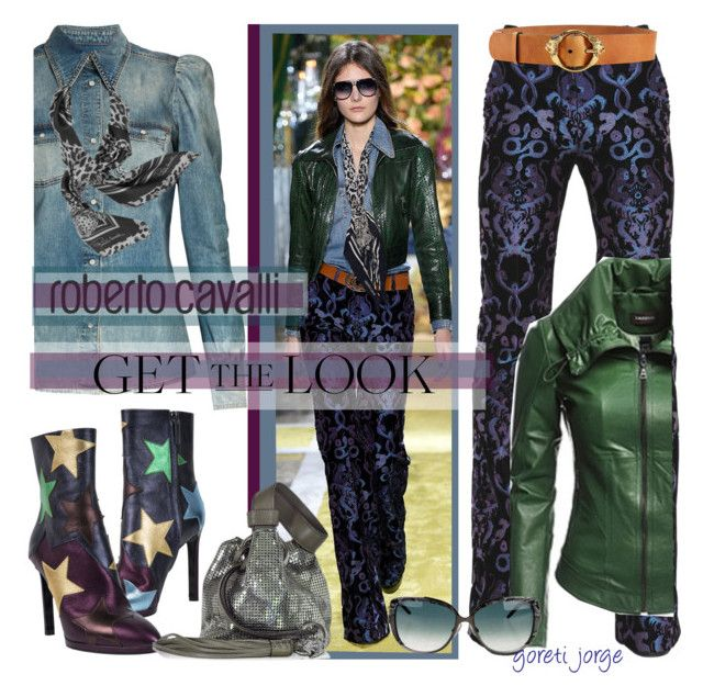 """Roberto Cavalli- Get the Look"" by goreti ❤ liked on Polyvore featuring Roberto Cavalli, Danier and GetTheLook"