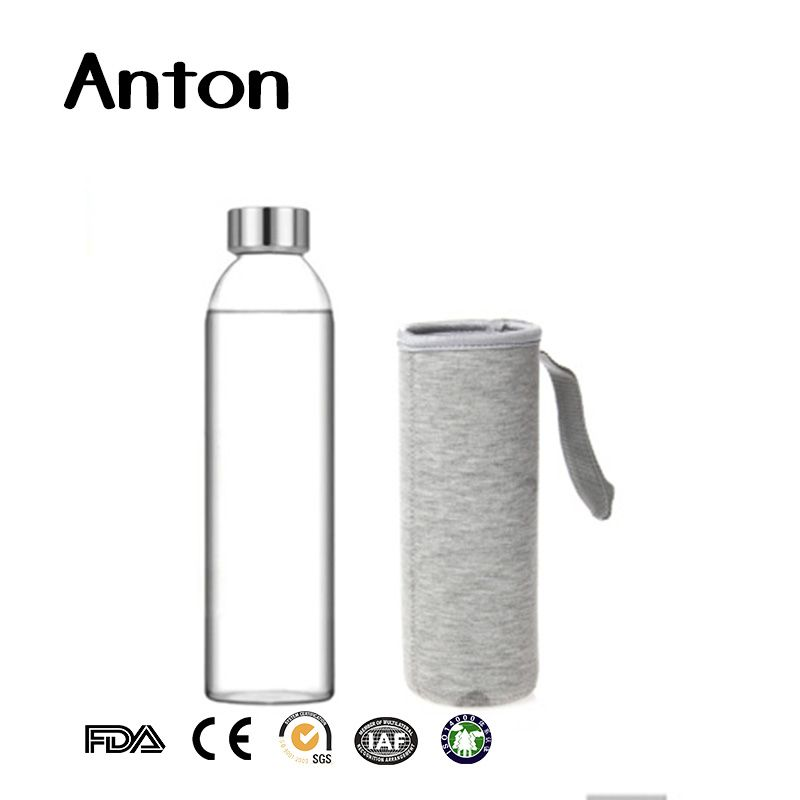 550ml high borosilicate glass drinking bottle for sports with lid and sleeve bottle glass drinking bottles glass bottles pinterest