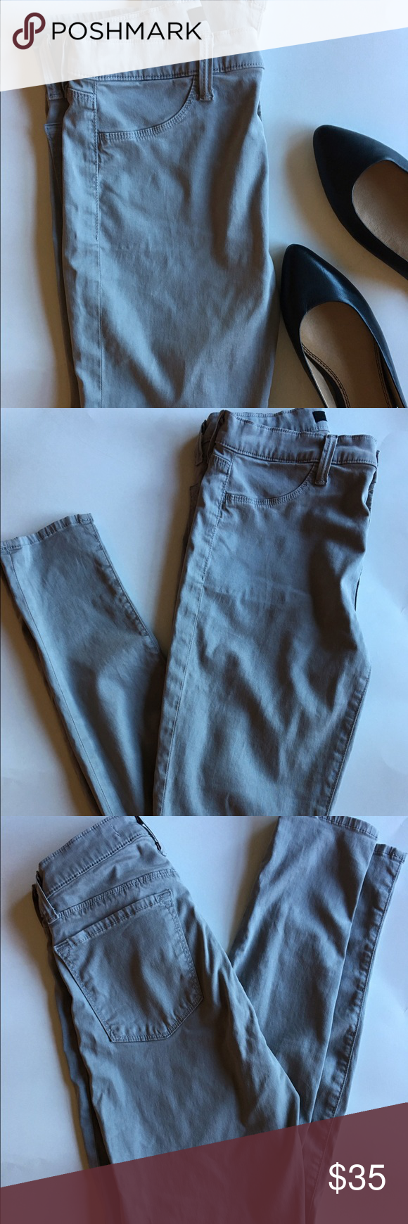 J Brand Gray Skinny Jeans J Brand Gray Skinnies. Size 28. Color called limestone. Super soft and in excellent condition. Front pockets are faux. These are stretchy and feel like a jegging J Brand Jeans Skinny