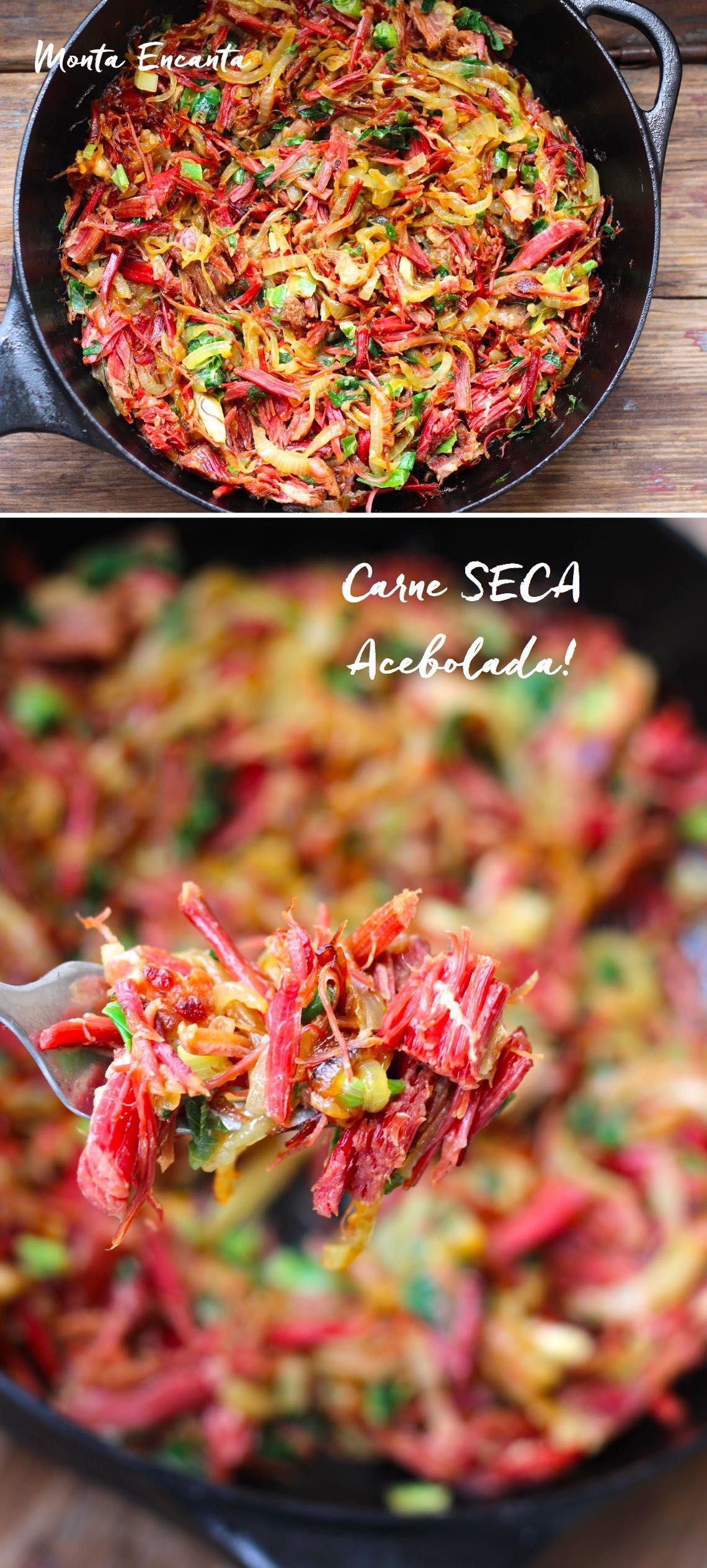 Por Cima Da Carne Seca Acebolada E Caramelizada Com Imagens