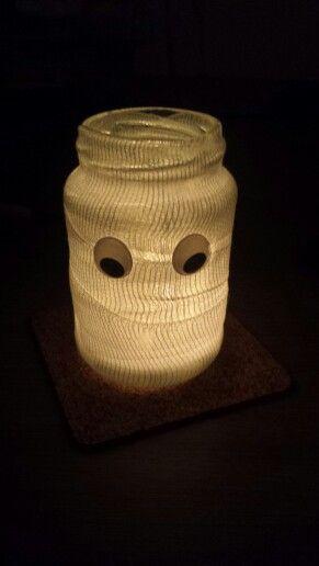 Waxinelichthouder Halloween.Mummie Waxinelichthouder Halloween
