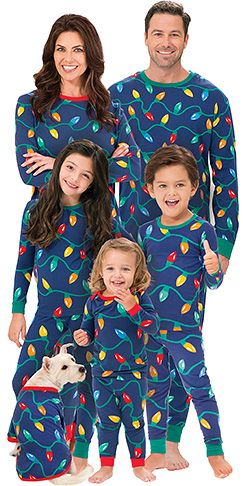 Christmas Lights PJs for the Whole Family  c70759825