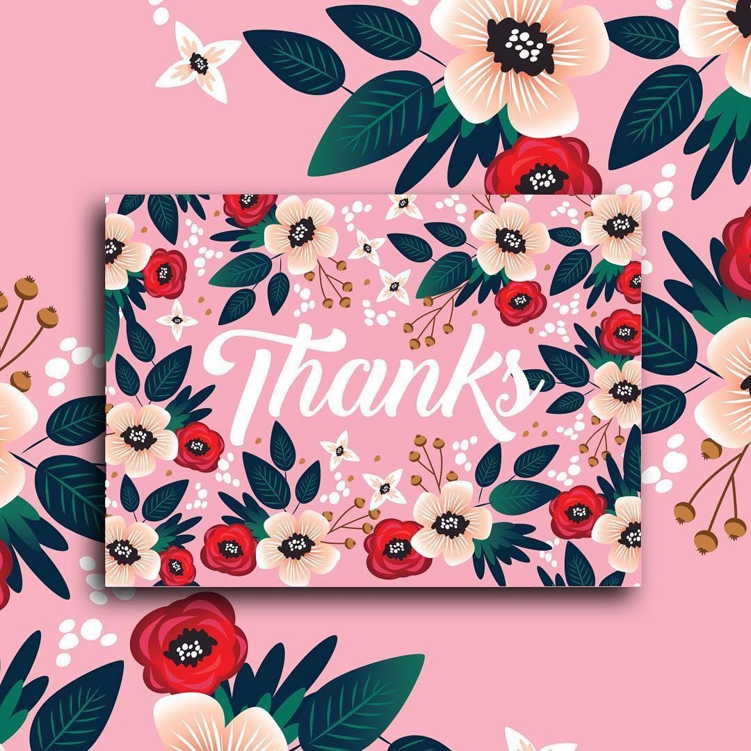 Spring Fresh Thank You Card Design By Werlangpaper Stationarylove