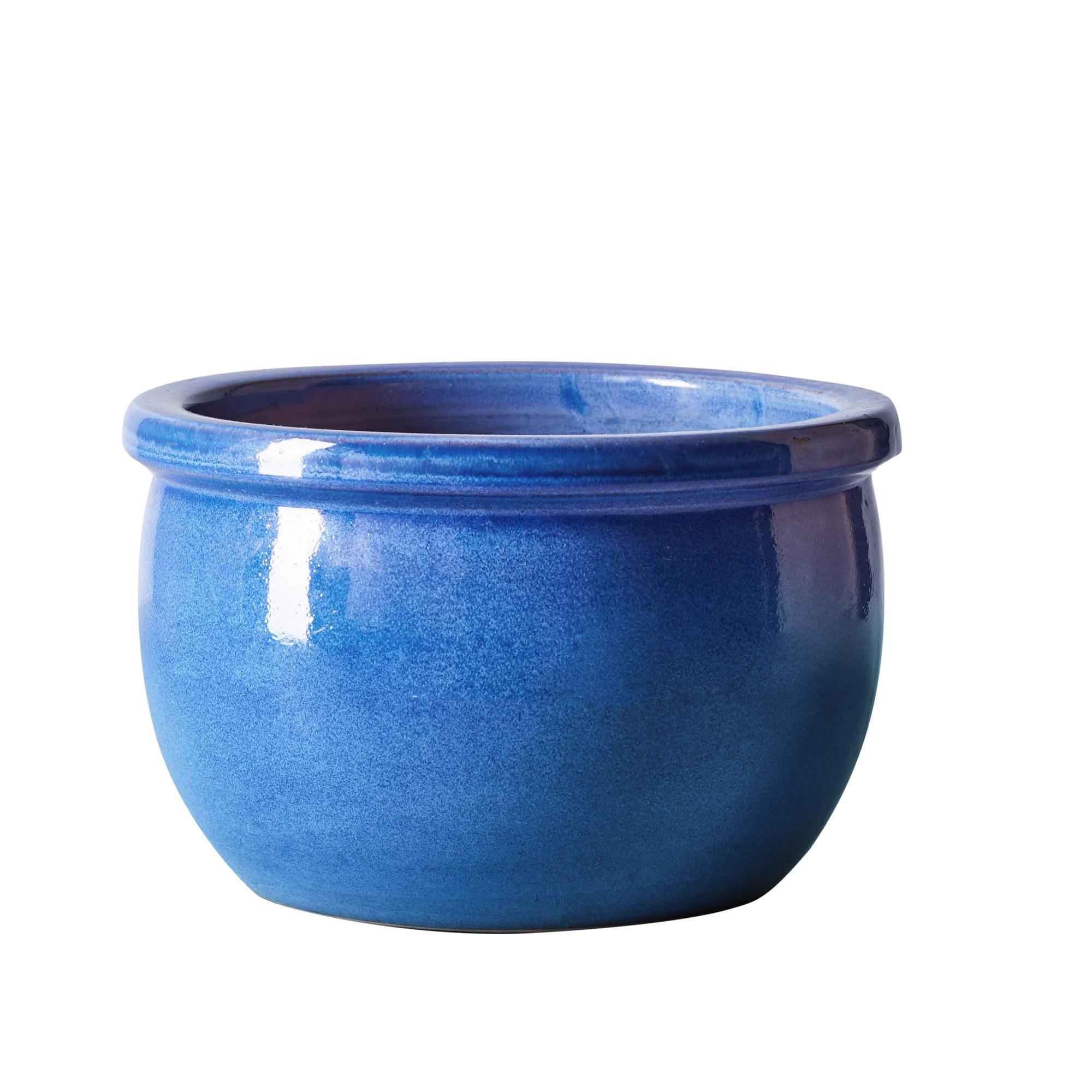 Large Blue Bavaria Plant Pot In 2020 Blue Plants Potted Plants Ceramic Pots