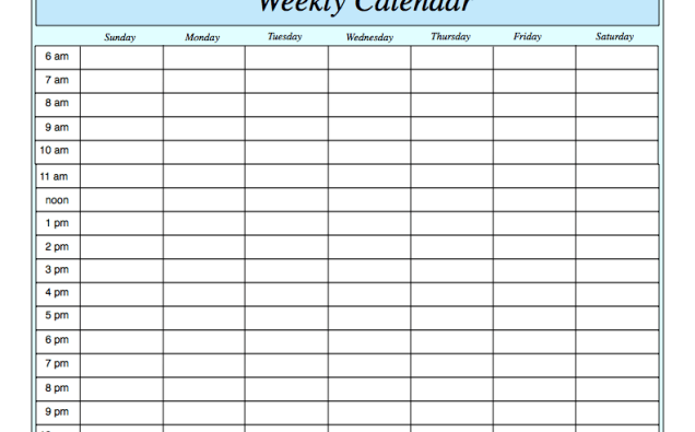 WeeklyScheduleTemplateZgmqfgT  cole    Schedule
