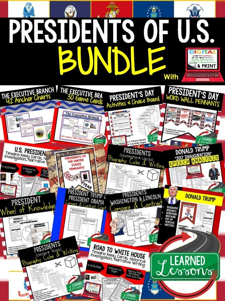 Photo of President's Day Activities Bundle, Digital Resources U.S. Presidents Activities