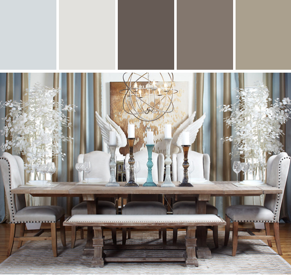 archer dining table designed by z gallerie via stylyze - Z Gallerie Living Room