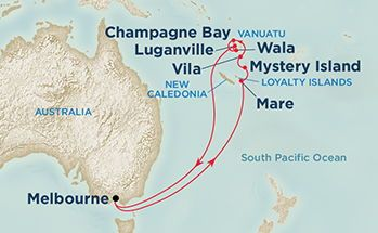Melbourne Australia World Map.New Caledonia Vanuatu Loyalty Islands Map Travel South