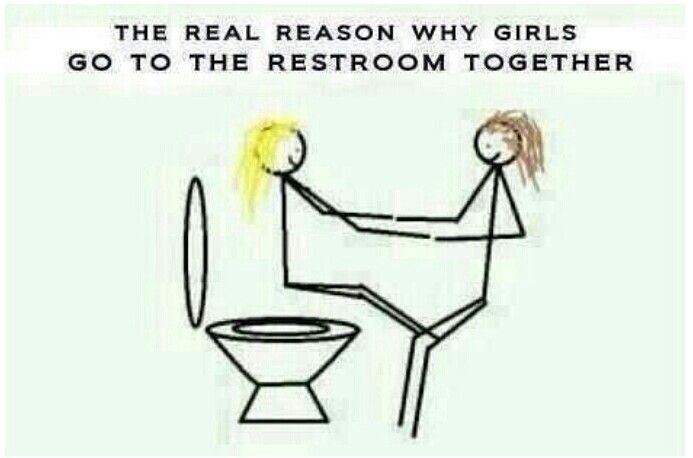 The Real Reason Why Girls Go To The Bathroom Together Funny Photos Funny Funny Quotes Sarcasm