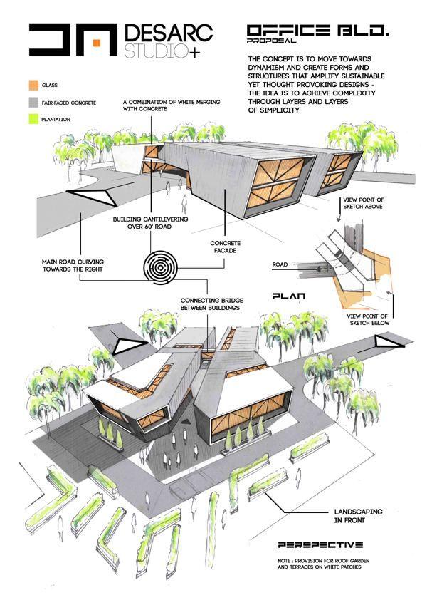 Un manifiesto arquitectos en behance dibujo de for Architectural design concept sheet