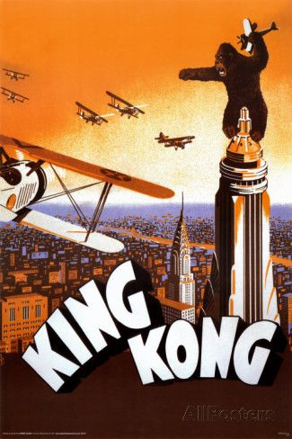 KING KONG EMPIRE STATE BUILDING 36X24 POSTER PRINT