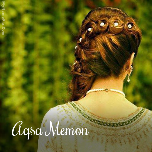 The Name Aqsa Memon Is Generated On Braid Girl With Name Image