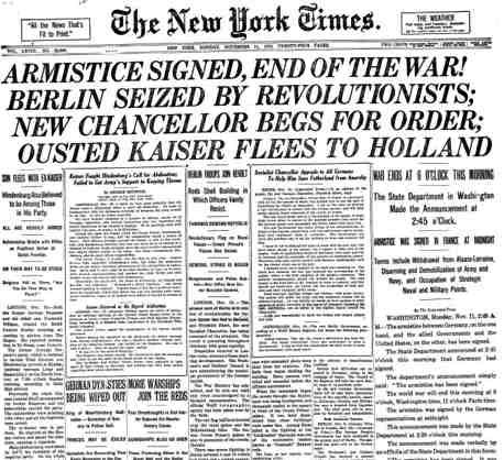 Portadas Historicas Del New York Times  Times Newspaper And Wwi