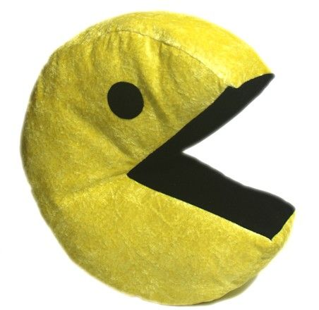 pacman plush pillow cushion by