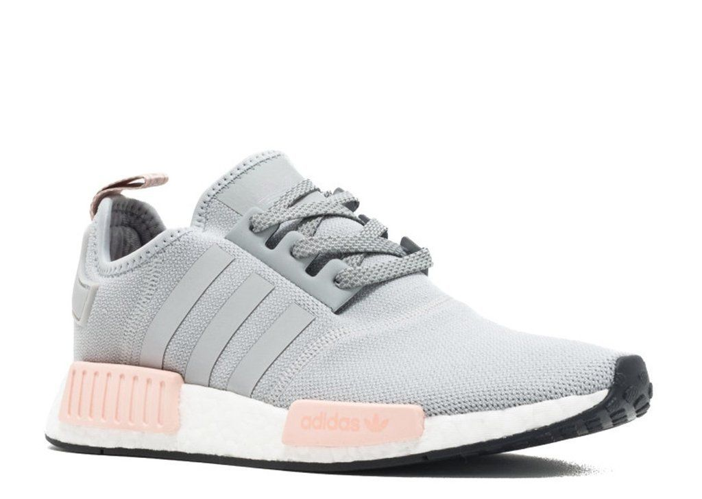 886a2a82f46 KEEVIN Adidas NMD r1 raw gray pink women s casual shoes