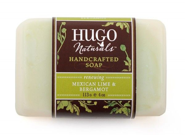 Handcrafted Soap - Mexican Lime & Bergamot  This isn't just soap: It's a luxurious, all-natural skin conditioner in a bar. Our hand-crafted blend of nourishing essential oils and botanical extracts leaves skin remarkably soft and supple. Revel in the rich, creamy lather and enticing citrus-herbal scent of natural Mexican Lime and Bergamot. Proudly made in the USA by Hugo Naturals.    $4.99