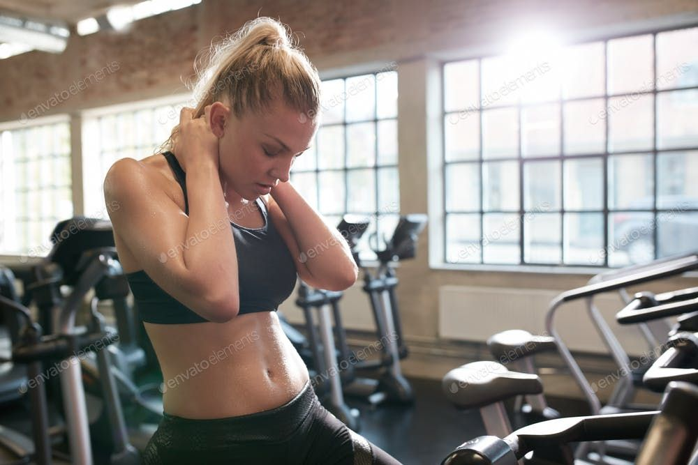 Woman resting after cycling workout in gym photo by jacoblund on Envato  Elements | Workout routine, After workout, Diets for women