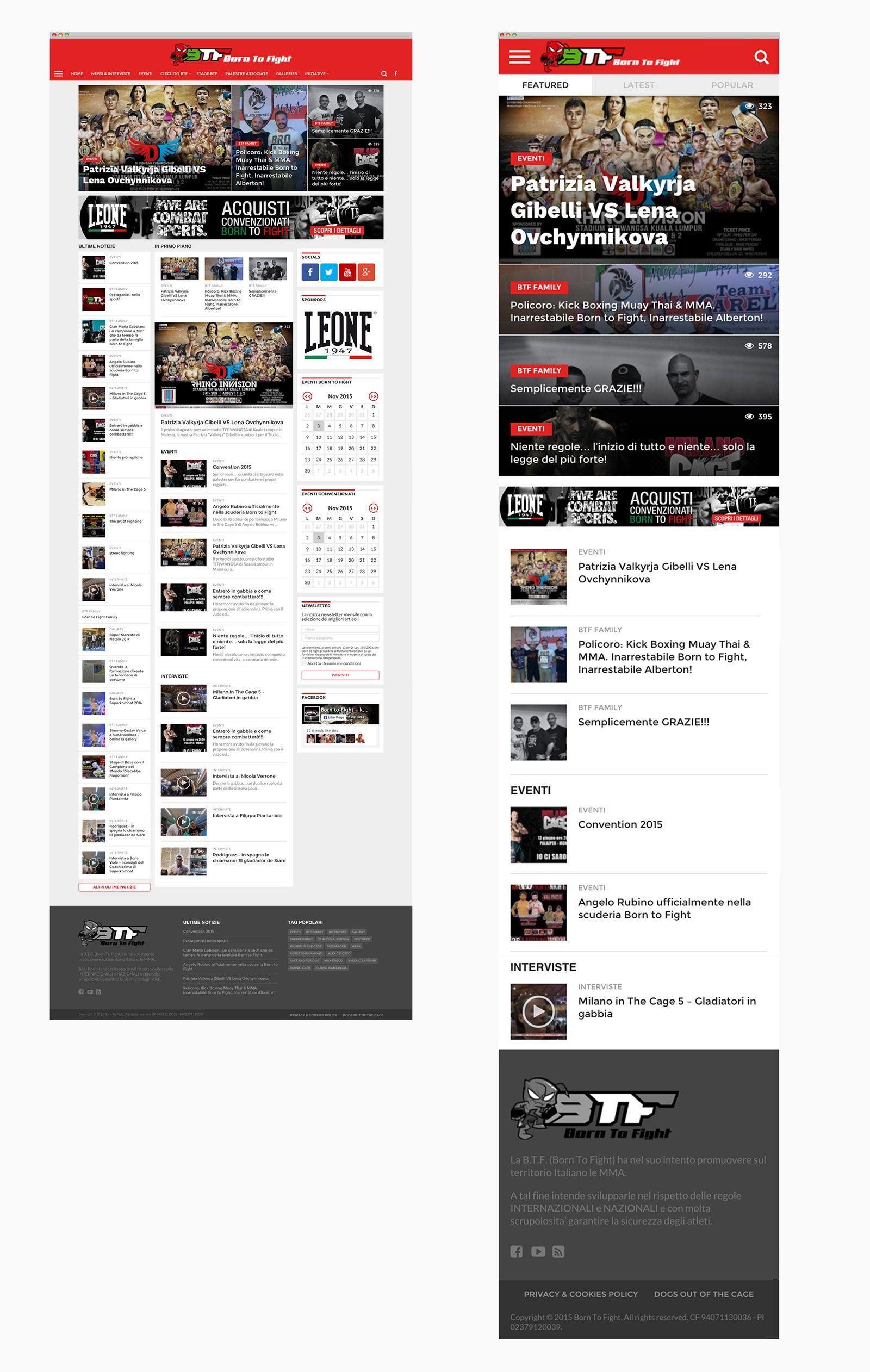 Website versione Desktop e Mobile