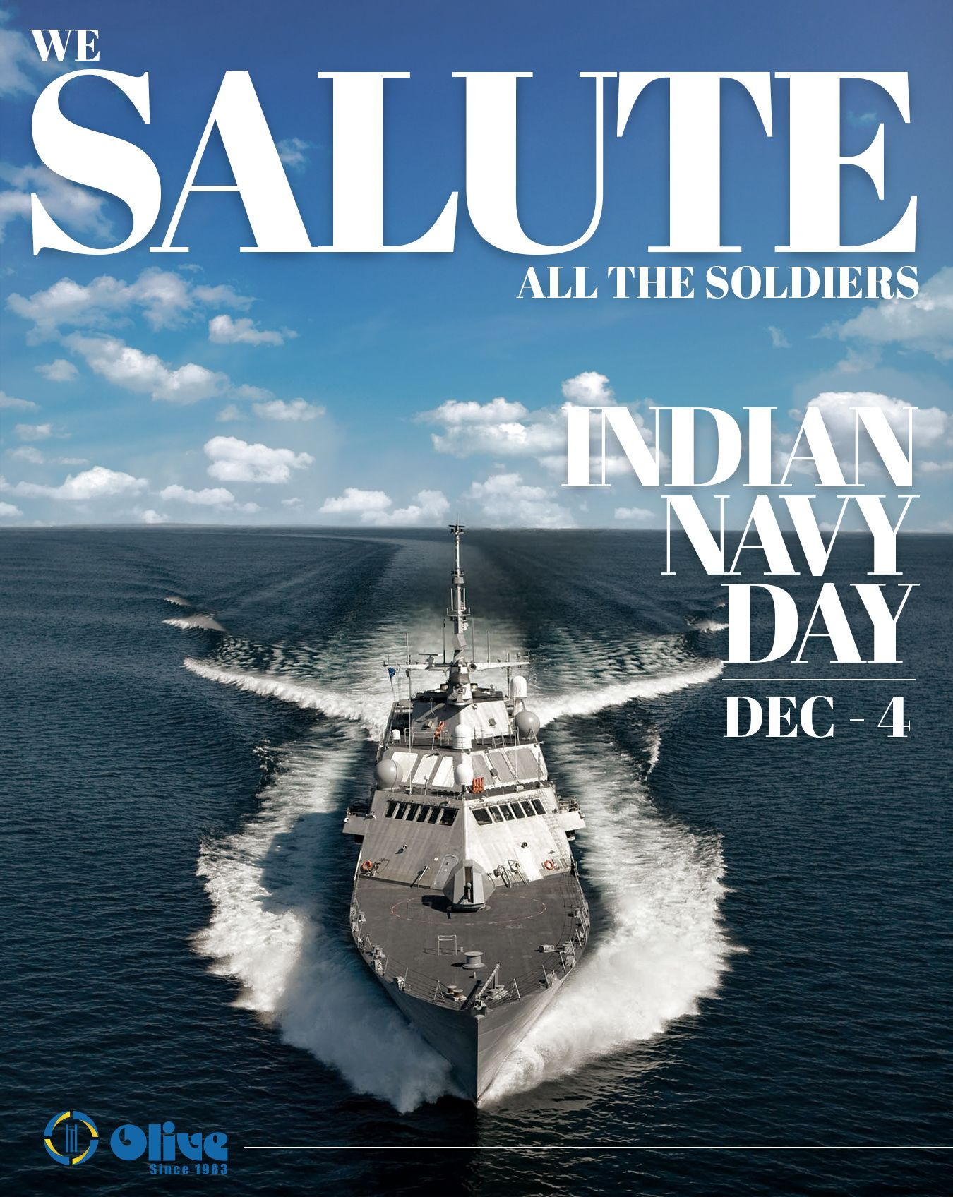For Your Bravery Hard Work And Dedication To Our Country We Thank You Olivebuilders Navyday Indiannavy Proudtobea Indian Navy Day Navy Day Indian Navy