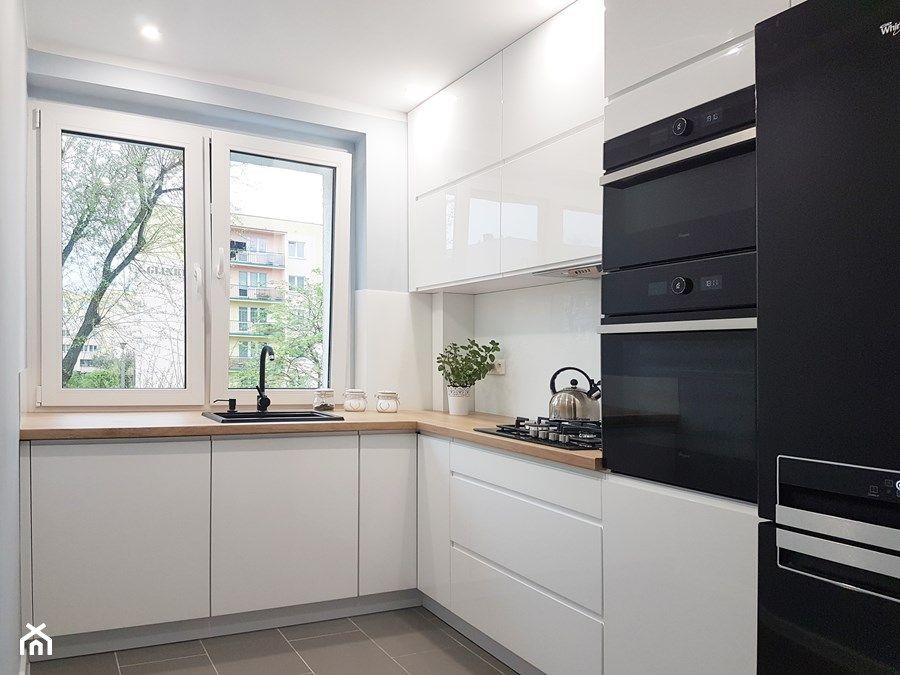 Znalezione Obrazy Dla Zapytania Kuchnia W Ksztalcie Litery L Z Oknem Kitchen Design Small Kitchen Design White Kitchen Design
