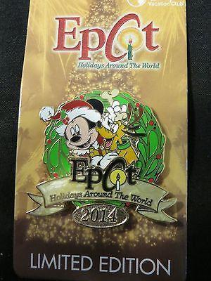 Epcot Holidays Around The World Pin Mickey Pluto Disney Vacation Club 2014 pin