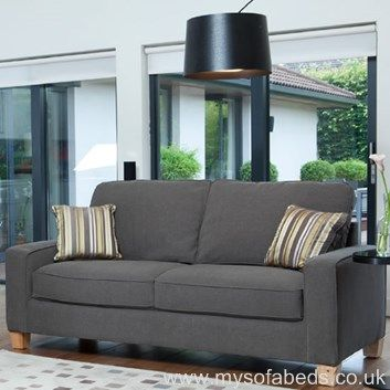 Stylish Grey Sofa Bed With Wooden Feet Perfect For A Smaller Home Free
