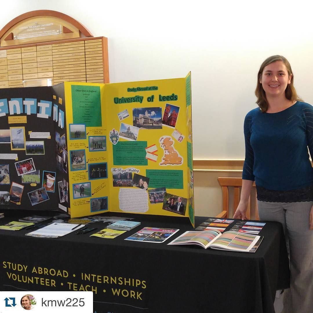 #Repost @kmw225 Hey #CentralMichiganUniversity folks! Come visit #apistudyabroad at the #studyabroad fair in the library today! #ispyAPI