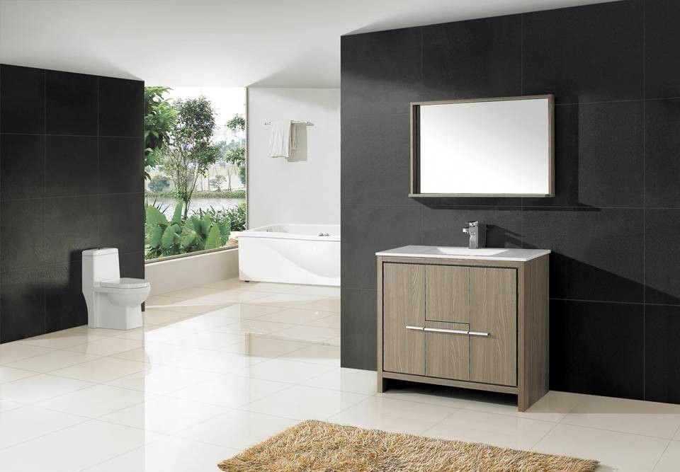 Aqua Decor Granada 40 Inch Modern Bathroom Vanity Set W Mirror