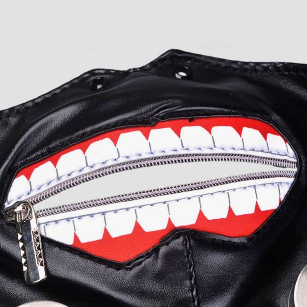 Cosplay Tokyo Ghoul Kaneki Ken Adjustable Zipper Masks PU Leather Mask
