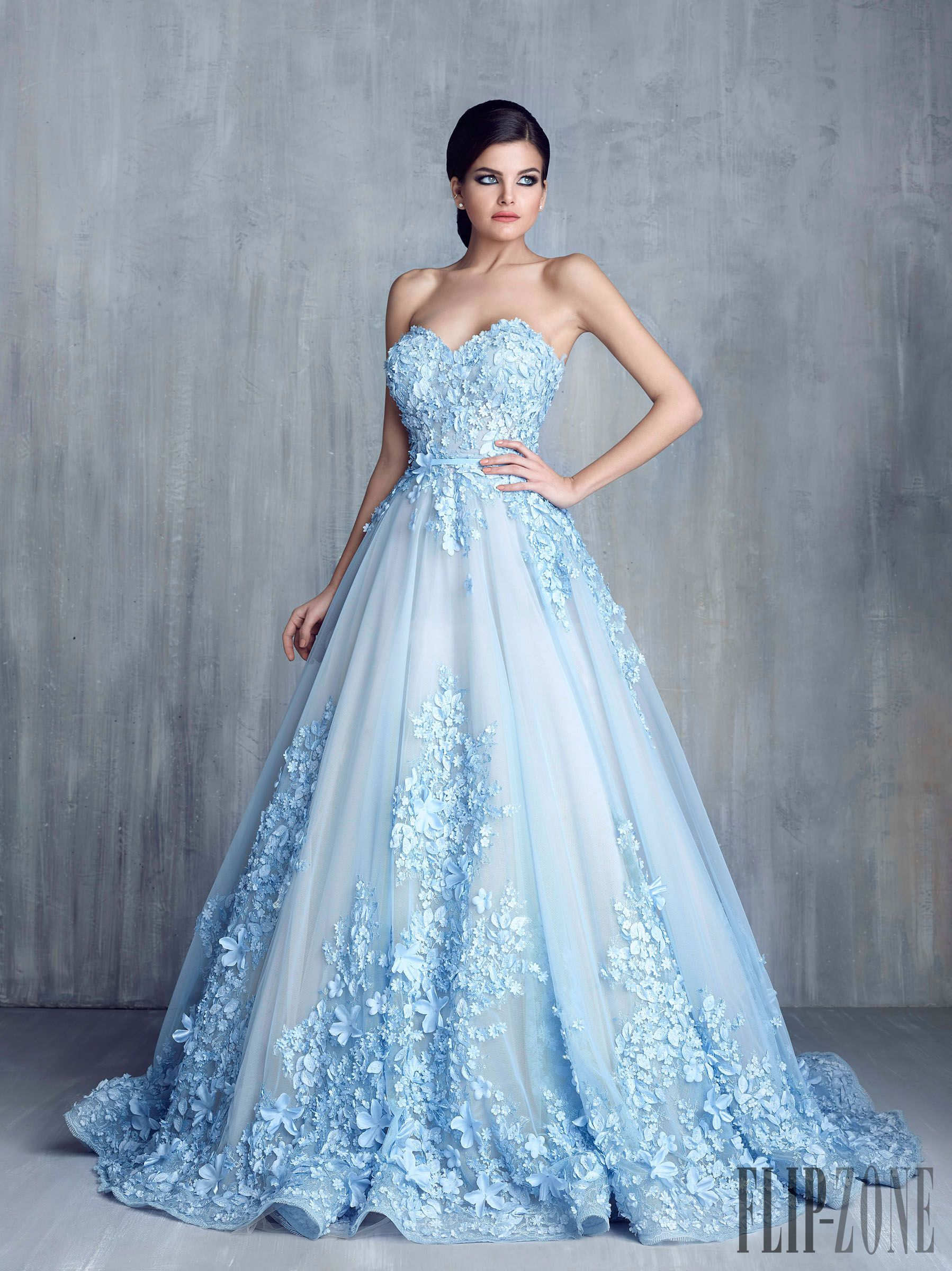 Tony chaaya spring summer 2016 couture spring summer for Blue long dress wedding