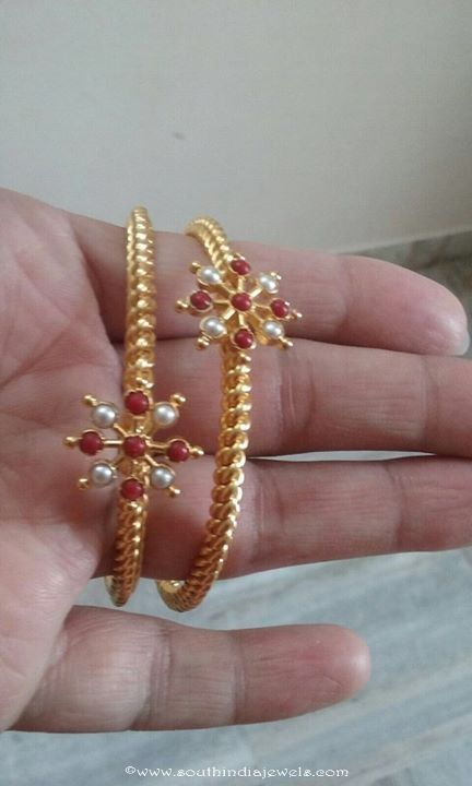Gold Coral Bangle Design Jewelry Gold Bangles Design