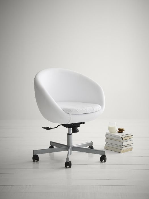 skruvsta swivel chair hanging frame stand get flexible move about or stay stationary with the in idhult white leather
