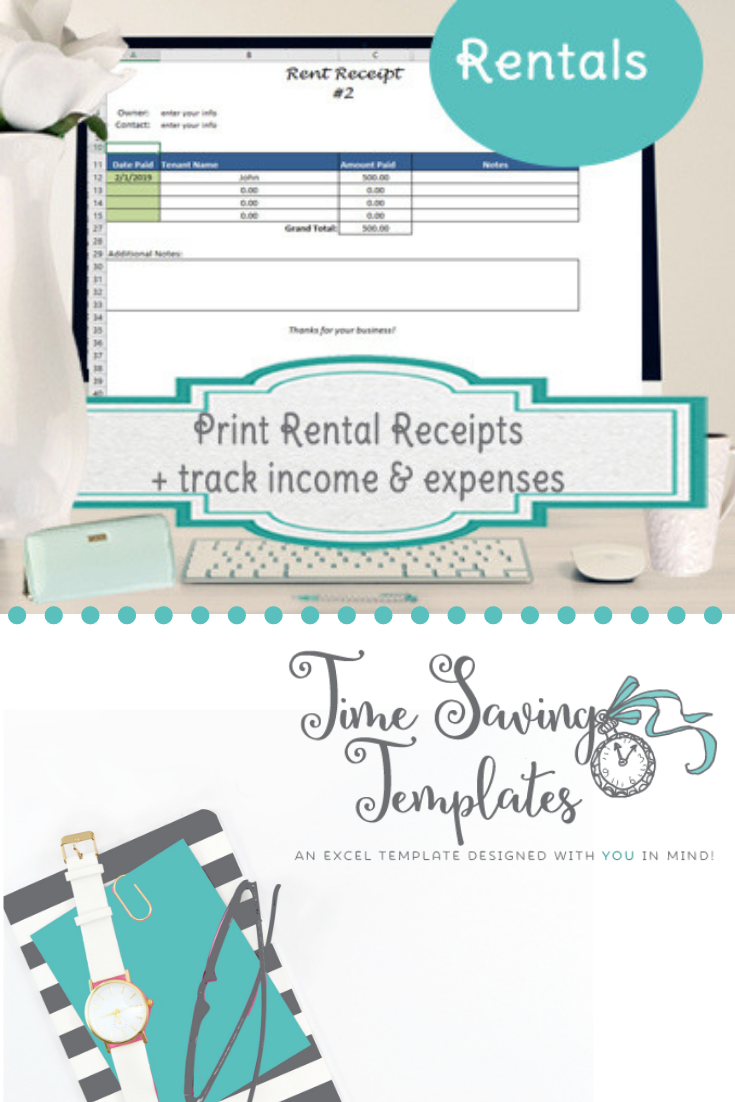 Print Rent Receipts Printable Rent Receipt Template Receipt Template Rental Property Management Templates