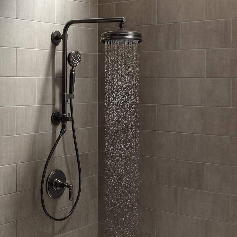 View The Kohler Artifacts HydroRail Custom Shower System Artifacts  HydroRail Shower Package With Single Function Shower Head And  Single Function Hand Shower ...