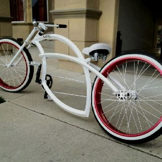 Custom Beach Cruiser Chopper Cool Frame