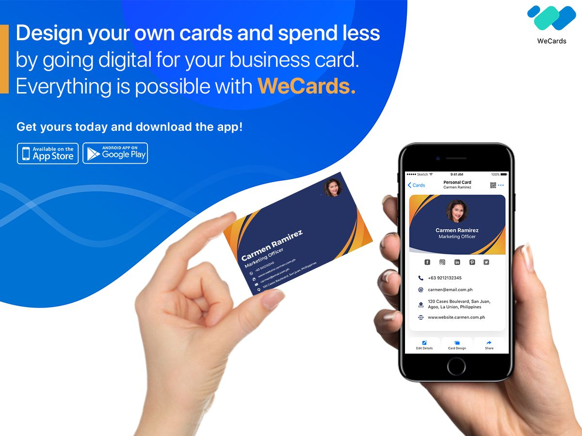 Business Cards Business Card App Digital Business Card Design Your Own Card